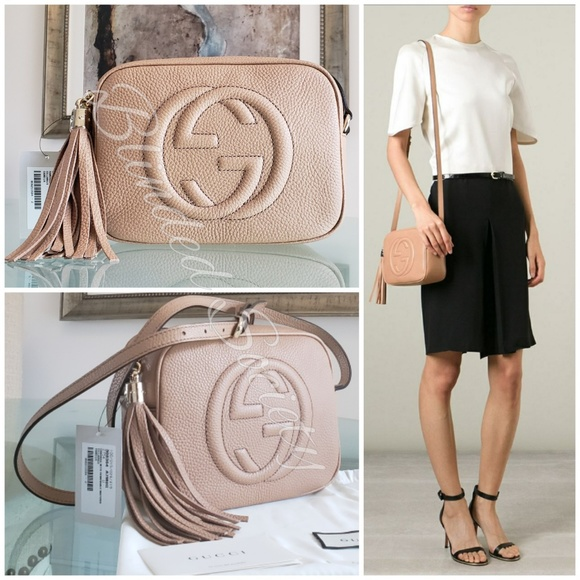 d6f7a5c604e Gucci Soho Camelia Rose Beige Disco Crossbody Bag